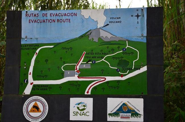 Mapa ubicación Volcán Arenal Costa Rica