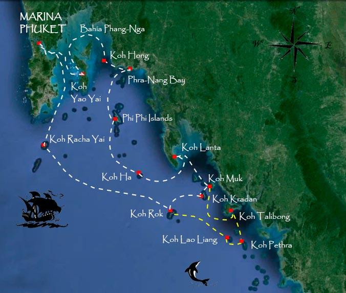 mapa-islas-Tailandia